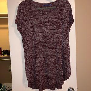 maroon shirt. really cute